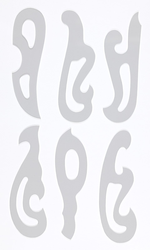 雲形定規6枚組 18X5.5X1mm - ト...